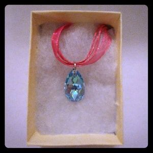 Jewelry - Aruba Blue Crystal Teardrop Necklace